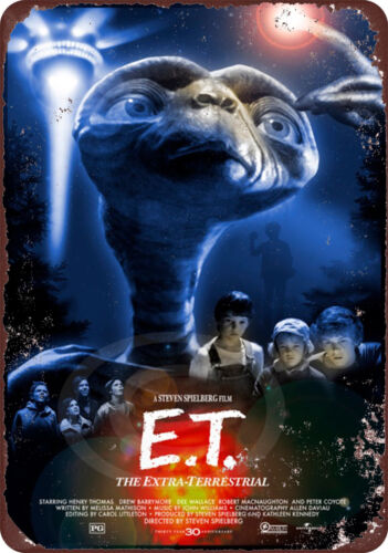1982 E.T the Extra Terrestrial movie Classic Wall Poster Vintage Retro tin sign