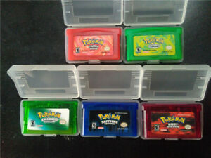 5Pcs-Game-Cards-Pokemon-Sapphire-Emerald-FireRed-LeafGreen-Ruby-GBM-GBA-SP-NDS
