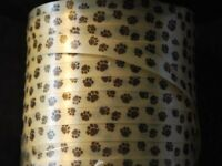 750 Feet Of Dog / Cat .. Brown Paw Print Curling Ribbon - 1/4 Wide