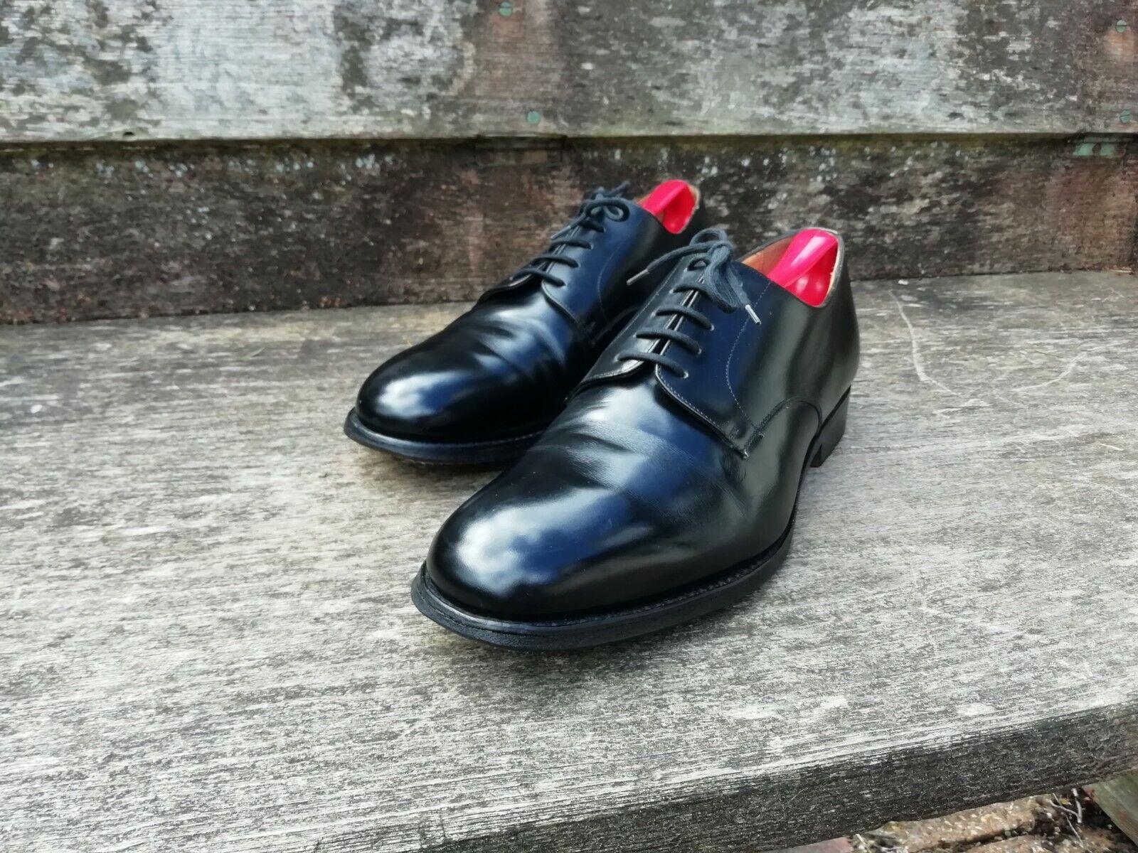 Iglesia Derby Zapatos – Negro – UK 9 – Cranfield – Excelentes Condiciones