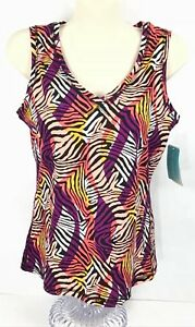e176a4bf411480 Be Inspired Sz M Womens Athletic Top V-Neck Shelf Bra NWT Belk ...