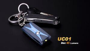 Fenix UC01 Blue 45-Lumen Keychain Light (Battery Included)