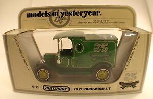 Matchbox-Y12-1912-Ford-Model-T-034-25-years-models-of-yesteryear-034-en-boite