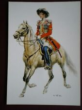 POSTCARD RUSSIAN EMPIRE 1825 OFFICER OF THE COSSACKS