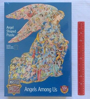 NEW Master Pieces Angels Among Us Special Shaped 550 Piece Jigsaw Puzzle SEALED
