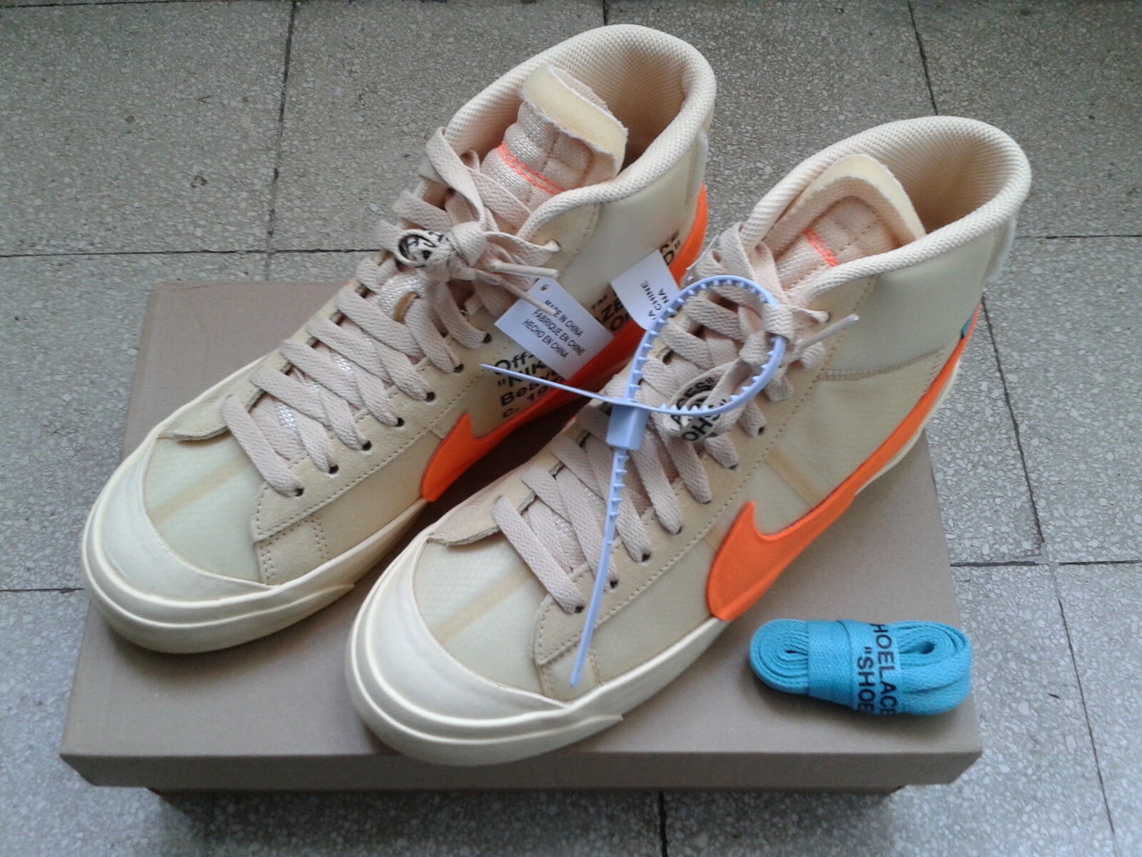 Nike Off White Blazer vanilla orange US 7.5 EU 40.5 AA3832-700 nuove originali