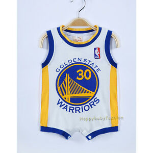 Image is loading Baby-Boy-Romper-NBA-Basketball-Jersey-Golden-State- 80041d8e3d