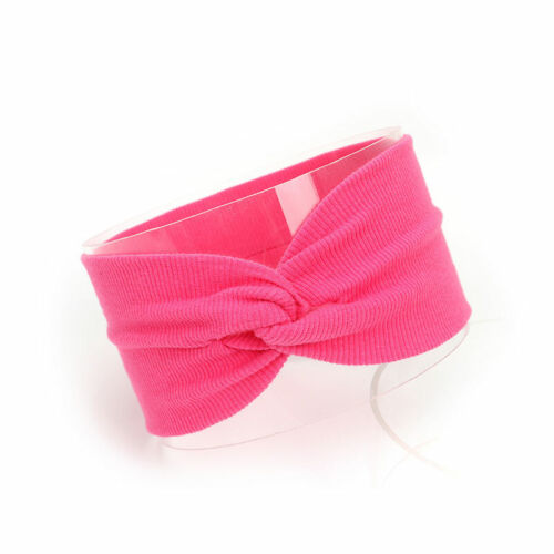 Baby Kids Solid Color Turban Twist Headband Cross Knotted Soft Elastic Hair Band