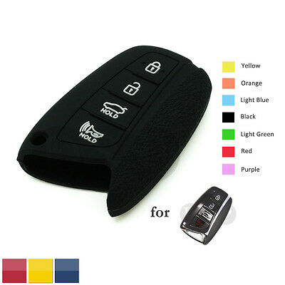 Granular Pattern Silicone Skin Cover fit for Hyundai Smart Remote Key Case 4B BK