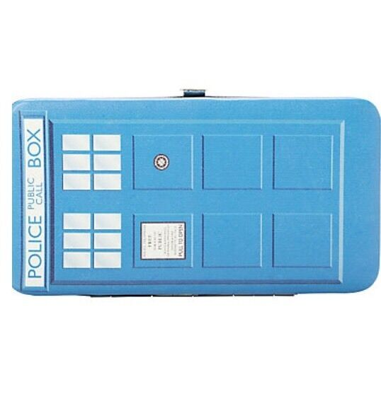Doctor Who Tardis Dr Hinge Wallet Clutch Rare Hard To Find New With Tags!