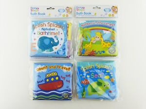 SOFT-BABY-BATH-BOOK-FUN-EDUCATIONAL-TOY-6-MONTHS-WATERPROOF-PLASTIC-COATED