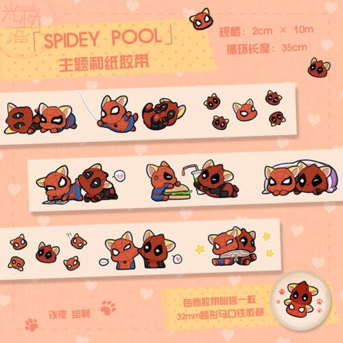 Marvel The Avengers Spider-Man Deadpool Masking Adhesive Tape Gift Badge Be