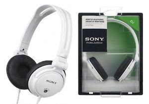 Sony-Mdr-V150-Blanc-Son-Monitoring-Stereo-Casque-de-Dj-Original-Tout-Nouveau