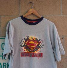 Vtg 2004 Men's Superman Man Of Steel Ringer T Shirt Size XL