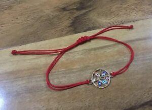Gold златиста-Red Thread Luck Handmade Bracelet