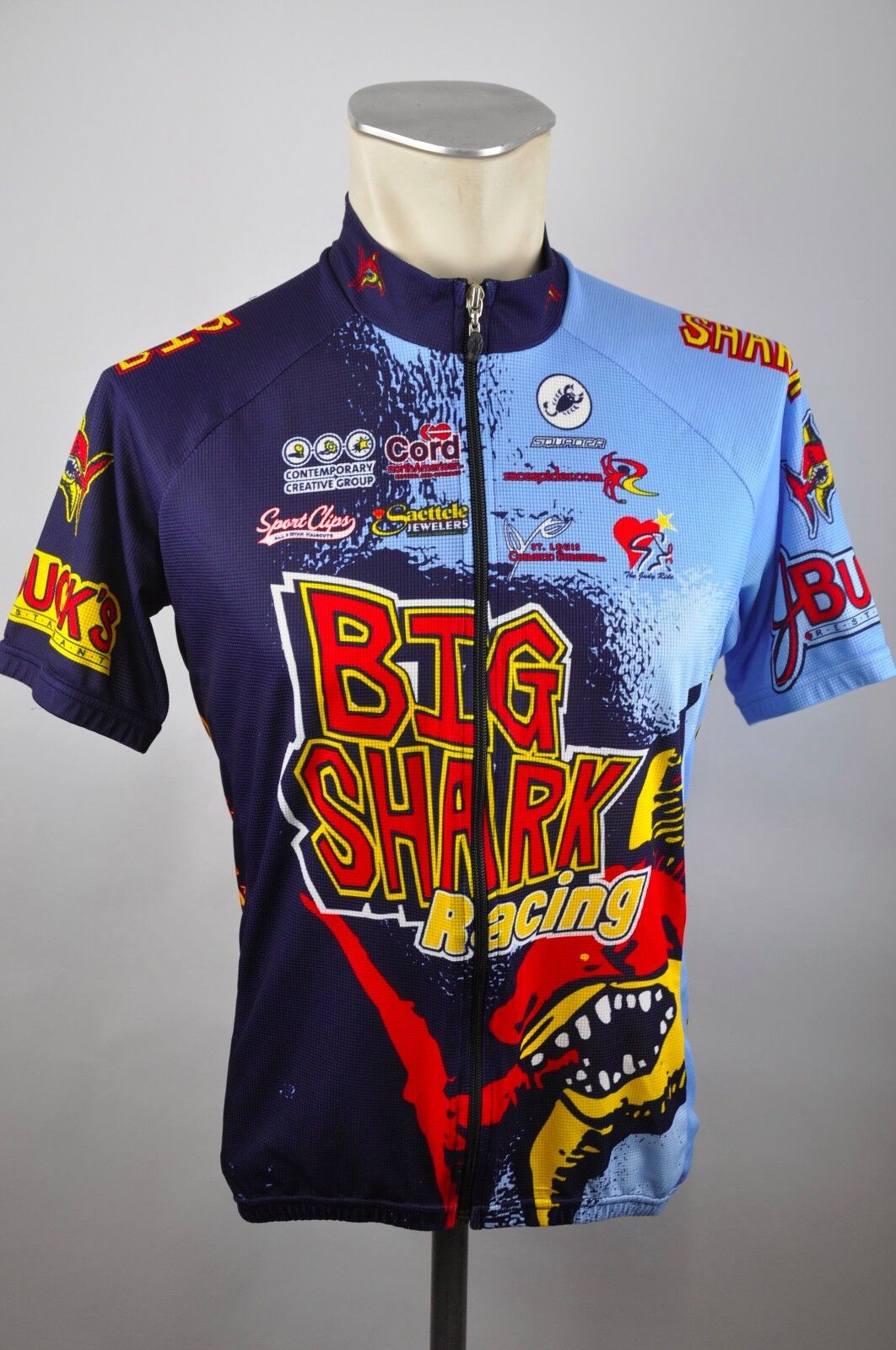 Big Shark Racing Squadra Radtrikot cycling jersey Trikot Gr. L BW 54cm CA1