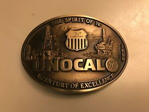 Unocal-76-Belt-Buckle-advanced-Casting-Solid-Bronze-A-Century-of-Excellence