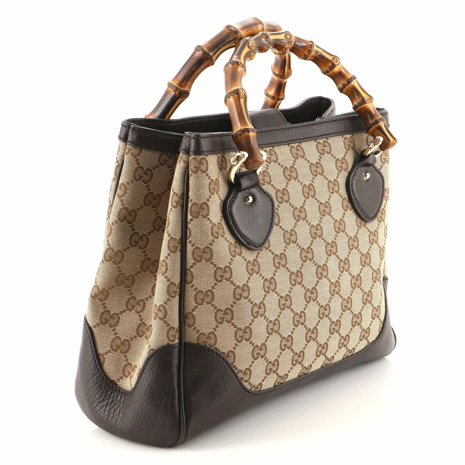 Gucci Diana Bamboo Top Handle Tote GG Canvas Small - image 3
