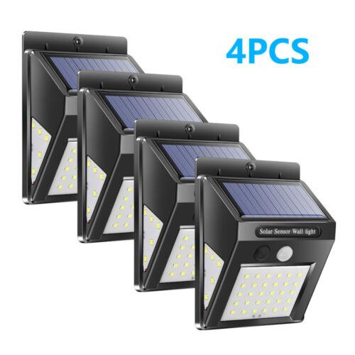 40LED Solar Lamp PIR Motion Sensor Wall Lamp Outdoor Waterproof Security LightUK