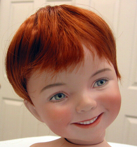 KELLY DOLL WIG Carrot Red size 9-10 NEW short hair for baby//toddler//boy DOLLS