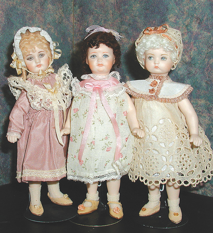 6  Antique Antique Antique Reproduction bambola molds by Doreen Sinnett 829098