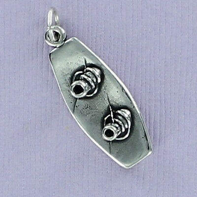 STERLING SILVER WATER SKIER HOLDING ON CHARM//PENDANT