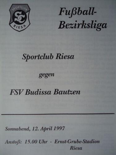 Budissa Bautzen Programm 1996//97 Sportclub Riesa