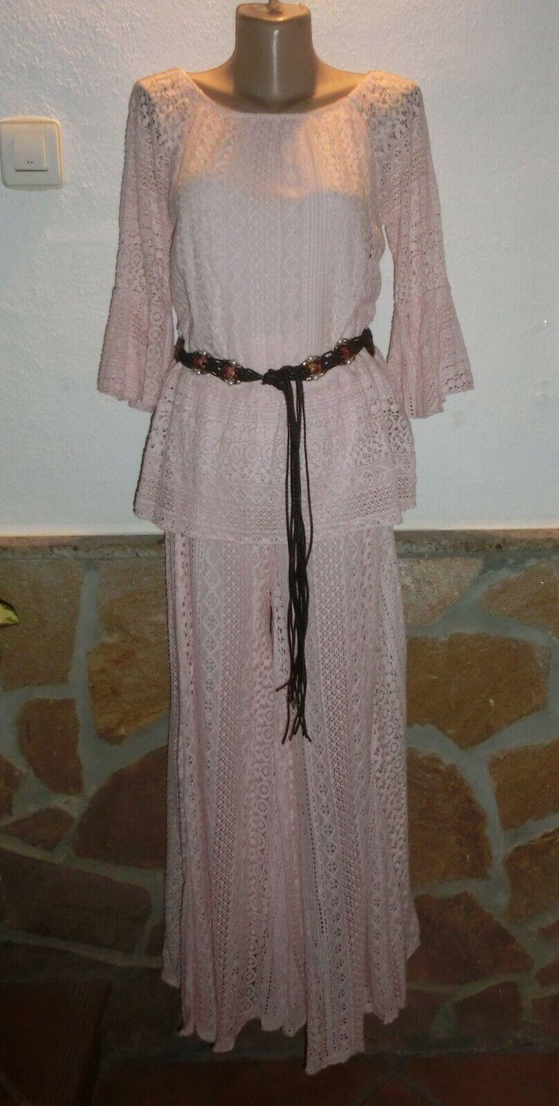 Style Tunika+Marlenehose Spitze Hippie Boho Ibiza Insein Rosa BeInn 40-44