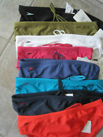 Speedo Swimwear Mens Bum Logo 8cm Side Width Plain Lined Lycra Sports Briefs