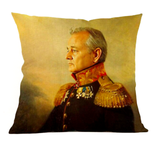BILL-MURRAY-PAINTING-Cushion-Cover-Classical-Retro-Film-Vintage-Case-45cm-Gift