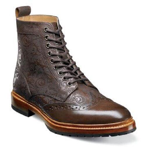 Stacy Adams Boot Madison II Wingtip Brown Vintage 00085-200