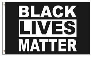 Black Lives Matter Large Flag 3x5 Feet Banner Protest Support BLM Movement Flag