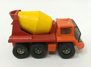 Vintage Plastic Metal Red /& Yellow Cement Concrete Mixer Truck  Made in Japan