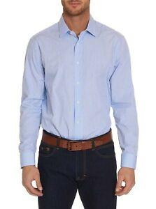 Robert-Graham-Ripped-L-S-Checkered-Print-Sport-Shirt-Blue