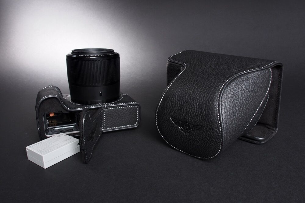 Genuine real Leather Full Camera Case bag cover for Canon G3X G3 X Bottom Open B