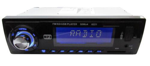 SD Karte 4x50 W blau beleuchtet Fernbedienung MP3 Autoradio mit USB AUX IN