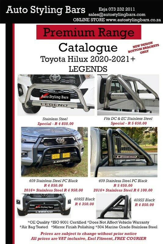 Auto Styling Bars Towbars, Tonneau Covers, Rollbars, Securi Lids, Nudges, Side Steps in SA