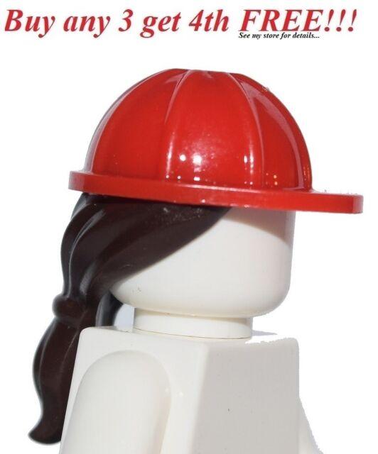 50 NEW LEGO MINIFIG HATS HELMETS /& HAIR LOT male female minifugre headgear part