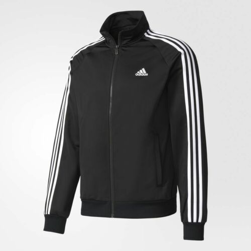 Black New deportiva 190304657151 Adidas Tricot Men's Medium ~ 3 br1024 Stripes Essentials Chaqueta rnPqrAwRB