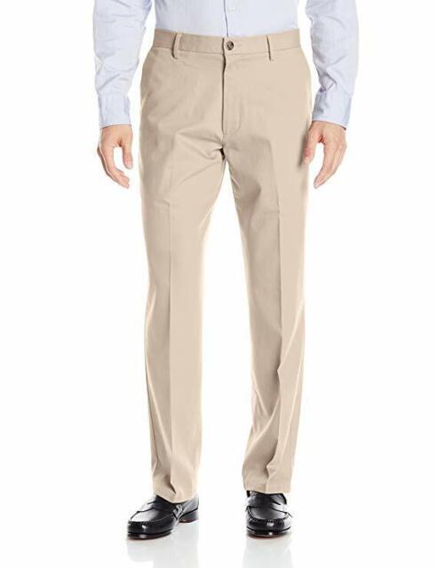 NWT Mens Dockers Best Pressed Signature Khaki Classic Fit Flat Front Pants
