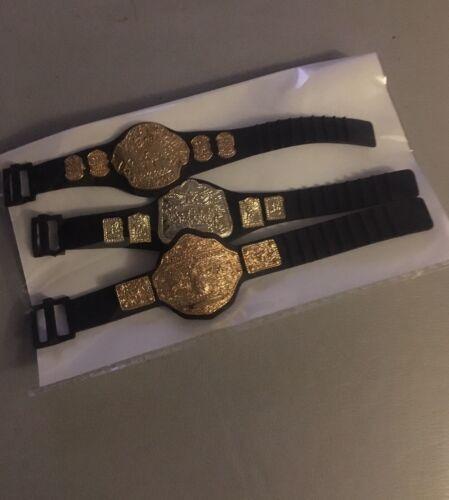 WWE Title Championship Belts For Wrestling Figures x 3