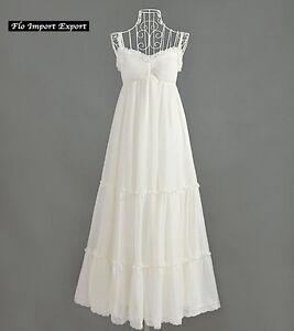 the best attitude b9348 bf3df Dettagli su Vestito Lungo Donna Estivo Bianco Woman Maxi Summer White Dress  110283