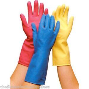 m nage bleu caoutchouc gants hygi ne gants nettoyage gants vaisselle gants ebay. Black Bedroom Furniture Sets. Home Design Ideas