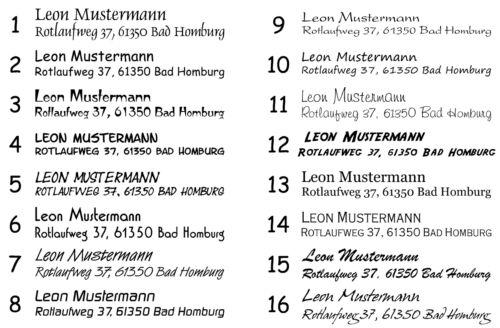 Eule 2 Adressstempel Holzstempel Kinder Stempel Name rund Ø 40 mm Motiv