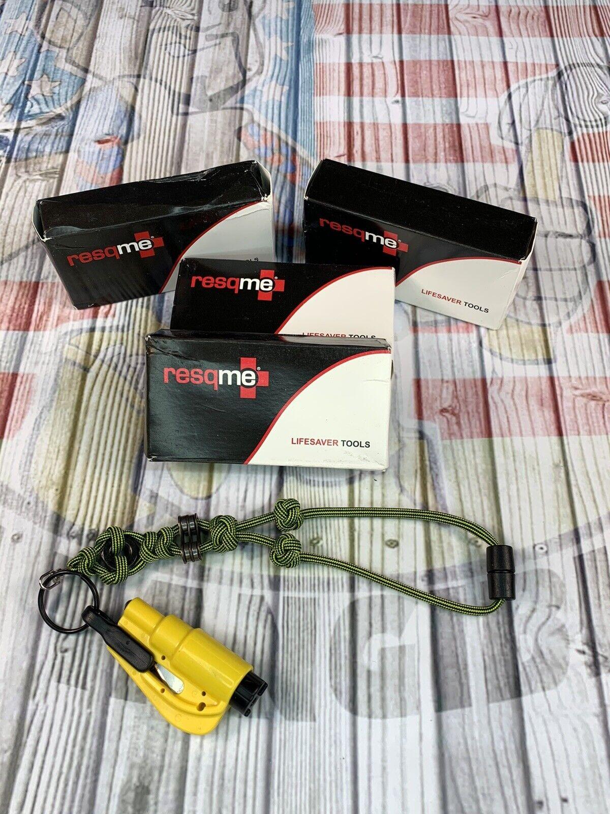 Resqme 04.100.09 Original Keychain Car Escape Tool Safety Yellow Seatbelt Cutter