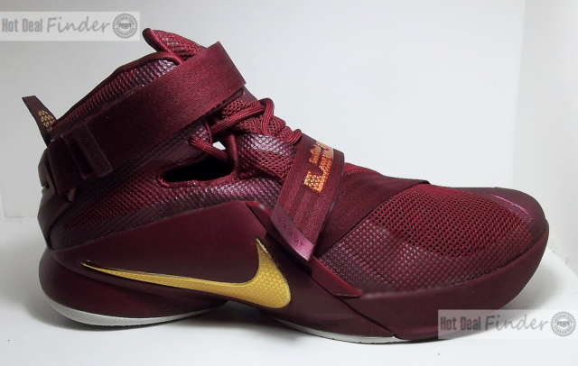 new products 61366 9e900 Nike Lebron James Soldier IX Mens 8 SNEAKERS Shoes Garnet Red Gold  749490-670