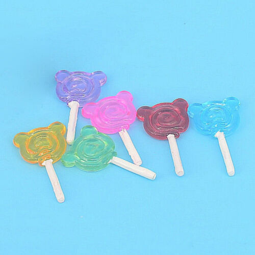 1:6 or 1:12 Scale Lollipop Holder Candy Miniature Dollhouse Accessories-Toys Set