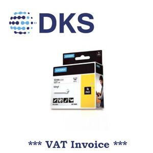 Dymo-Rhino-Industrial-Labels-Vinyl-12mm-x-5-5m-Black-on-White-18444-000057