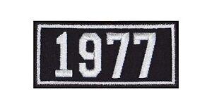 1977-Biker-Patches-Aufnaeher-Jahreszahl-Geburtsjahr-Birth-Year-Rocker-Motorrad-MC