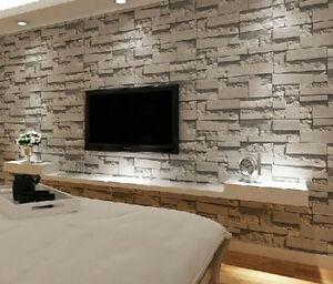 Image Is Loading 3D Wallpaper Bedroom Living Mural Roll Modern Faux